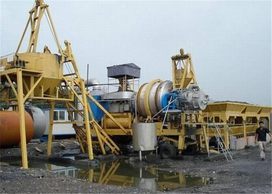 Auto manual Switchable Ponsel Asphalt Mixing Plant untuk Bitumen / Agregat Material